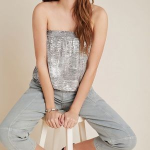 Anthropologie woman's Maiah Shimmer Tube Top